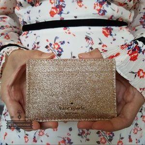 Kate spade joeley rose gold card holder